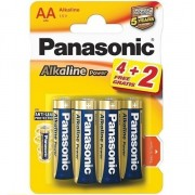 Panasonic бронза   LR6 Alkaline   Power BL*6 (4+2) батарейка (уп.72)  АА