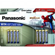 Panasonic LR03  Everyday Power BL*8 (6+2 Spider-Man) батарейка ААА (уп.8/96)